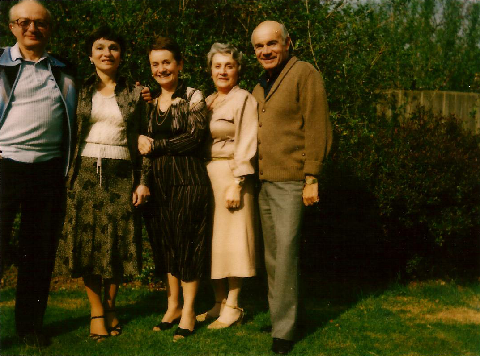 Gathering of siblings in Sonning, 1980