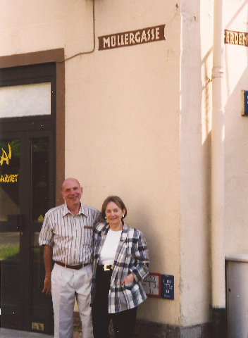 Henry and Margot visiting Kassel, 1998