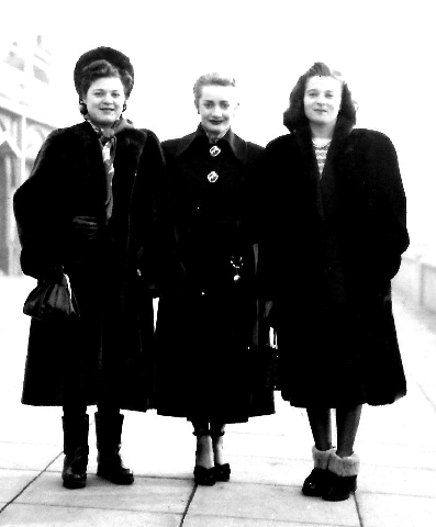Ray, Sonia and me in Brighton, 1947